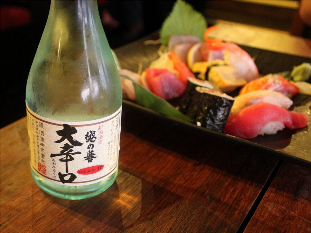 Bebidas para acompañar el sushi